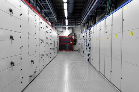 panel de control: Sala de control de una planta de energía térmica