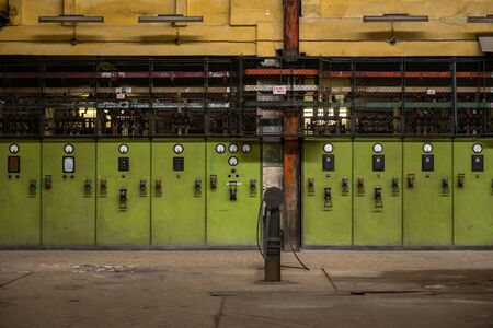 Electricity distribution hall at the metal industry photo