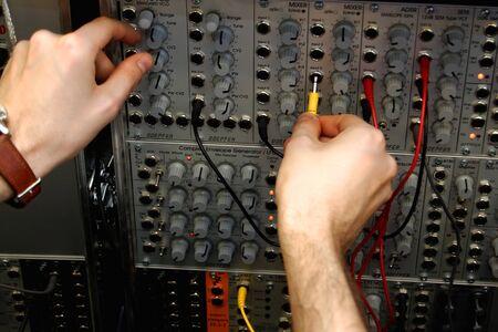 Audio connectors with sound mixer photo