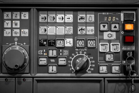 control panel: Control panel texture with lots of buttons Stock Photo