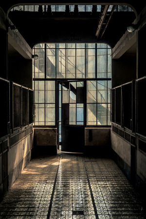 Industrial interior with light from the windows