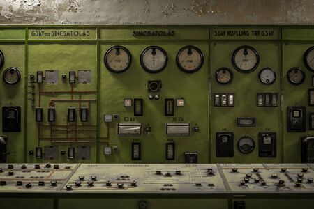ammeter: Control Panel in a science institute indoors