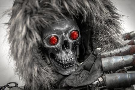 Piece of modern warfare robot closeup photo