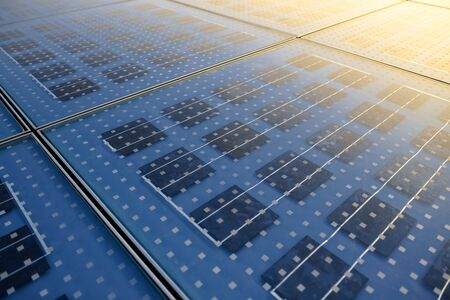 renewable: Photo of Solar Panel Texture close up Stock Photo