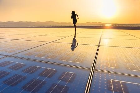 Photo of Solar Panel Texture close up Banco de Imagens