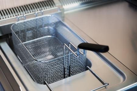 schone frituurpan close-up foto in de keuken