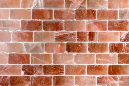 sal: Pared de ladrillo hecha de textura sal