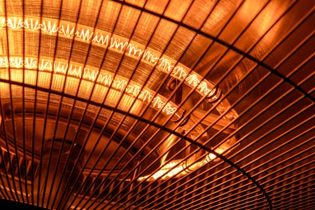 warmness: Electric heater closeup photo for the cold winter Stock Photo