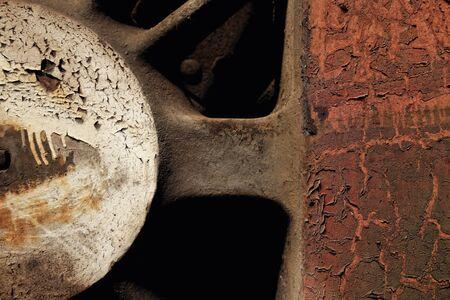 worn: Aged Industrial rusty worn metal closeup photo