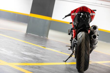 Photo of a Motorcycle parking in garage Stock Photo - 38538144
