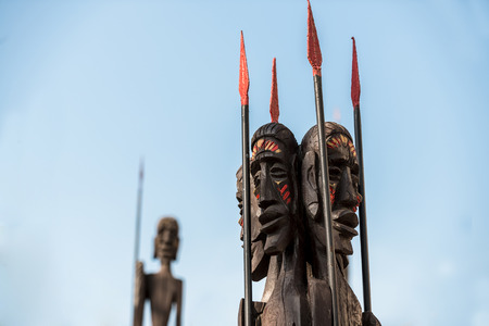 african warriors: African Warriors under blue sky with spear