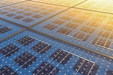 eficiencia energetica: Foto de la textura del panel solar de cerca Foto de archivo