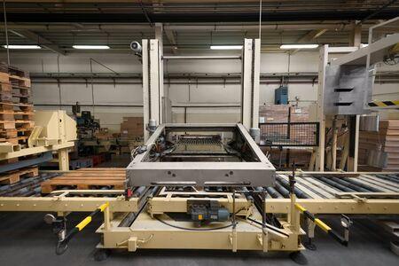 conveyor belt: Modern Conveyor belt in industrial interior photo