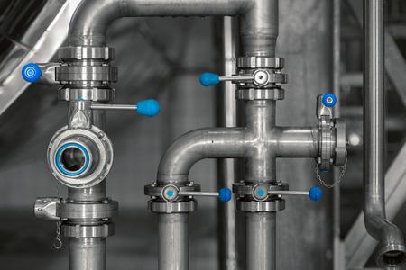 Limpiar la tubería de alta calidad en interior industrial Foto de archivo - 44164582