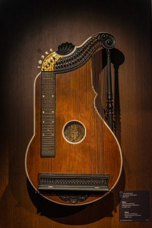 jitter: Closeup photo of an aged musical instrument Stock Photo