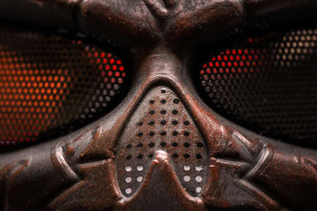 rust covered: Steel mask covered with rust closeup photo