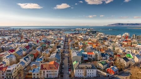 safest: City of Reykjavik from above, Capital of Iceland