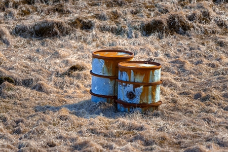 heavy risk: Several barrels of toxic waste at the dump