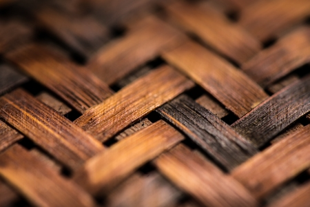 basketry: Texture of woven basket as background wallpaper