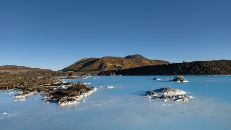 Thermal water at Iceland near the city Reykjavik