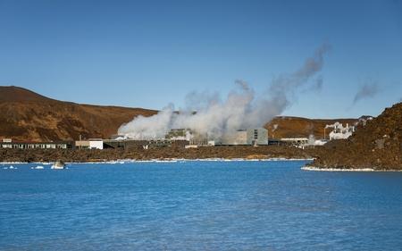 vapore acqueo: Geotermicamente attivo in Islanda, nei pressi della capitale