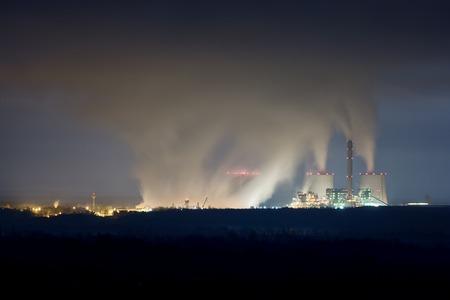 powerhouse: Modern Powerplant producing heat