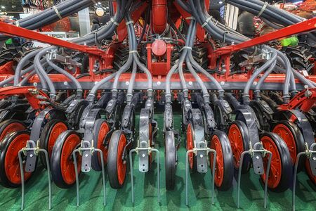 Closeup photo of an agricultural watering equipment Stock Photo