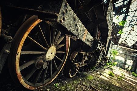 Een deel van een oude industriële trein