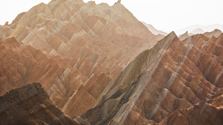 Rainbow mountains in asian geopark at China Imagens
