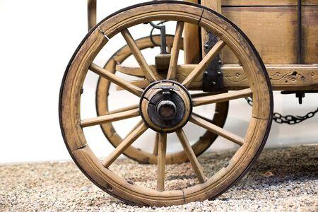 ferrous: Old cartwheel on the ground
