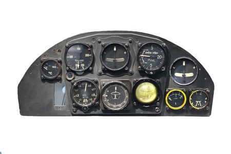Plane dashboard isolated on white Imagens