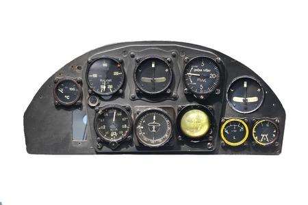 Plane dashboard isolated on white Foto de archivo