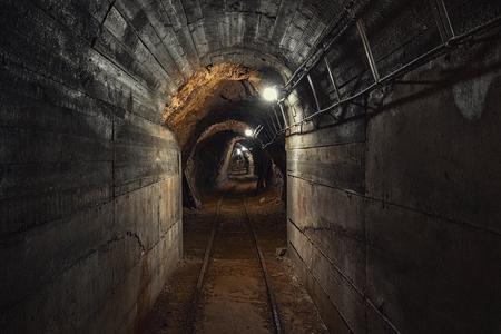 Underground mine passage angle shot