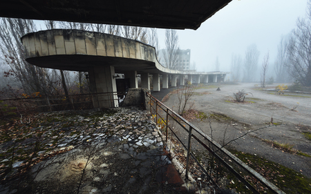 Abandoned city of Pripyat 2019 in ruins