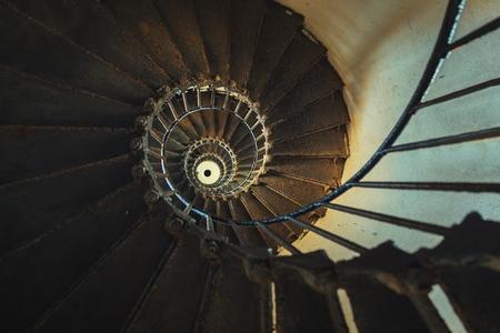Spiral staircase going upwards angle shot Reklamní fotografie