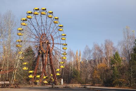 Grande roue de la ville fantôme de Pripyat 2019 à l'extérieur Banque d'images