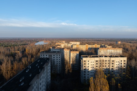 Abandoned Cityscape in Pripyat, Chernobyl Exclusion Zone