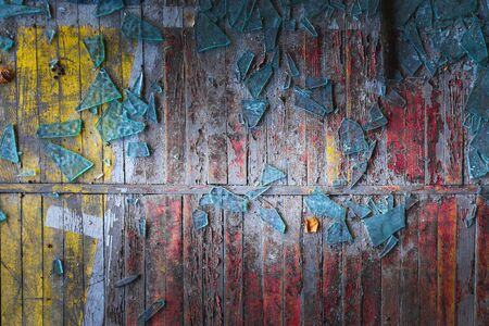 Broken glass on wooden floor as background texture Banque d'images