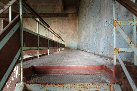 Old Abandoned staircase angle shot