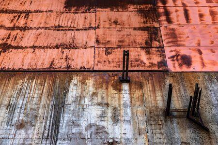 Rusty metal texture as background closeup