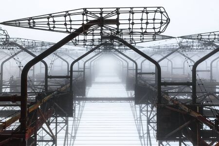 Antenna Complex in Chernobyl Exclusion zone closeup