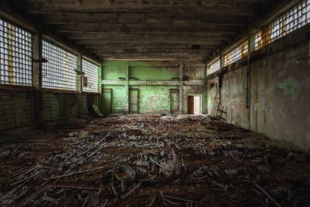 Abandoned Sport Hall in School number 5 of Pripyat, Chernobyl Exclusion Zone