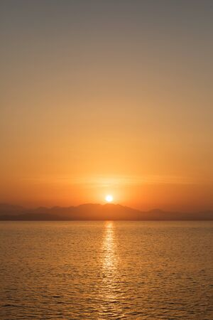 Beautiful sunset over the horizon at dusk Reklamní fotografie