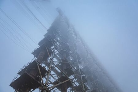 Duga Antenna Complex in Chernobyl Exclusion zone 2019 closeup 版權商用圖片