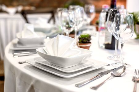 Closeup of a table at the dining hall