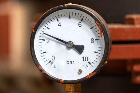 Closeup of clean pressure gauge