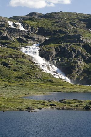 The photo is taken in the  Hardangervidda national park, Norway photo