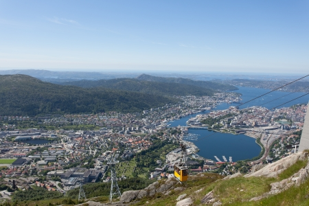 Taken from Ulriken in the city of Bergen, Norway