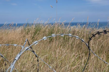 world war ii: barbed wire Stock Photo