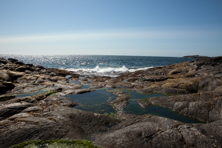 sund: Skerries in the wst part of Norway Stock Photo